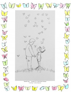 A Multitude of Butterflies Color Page