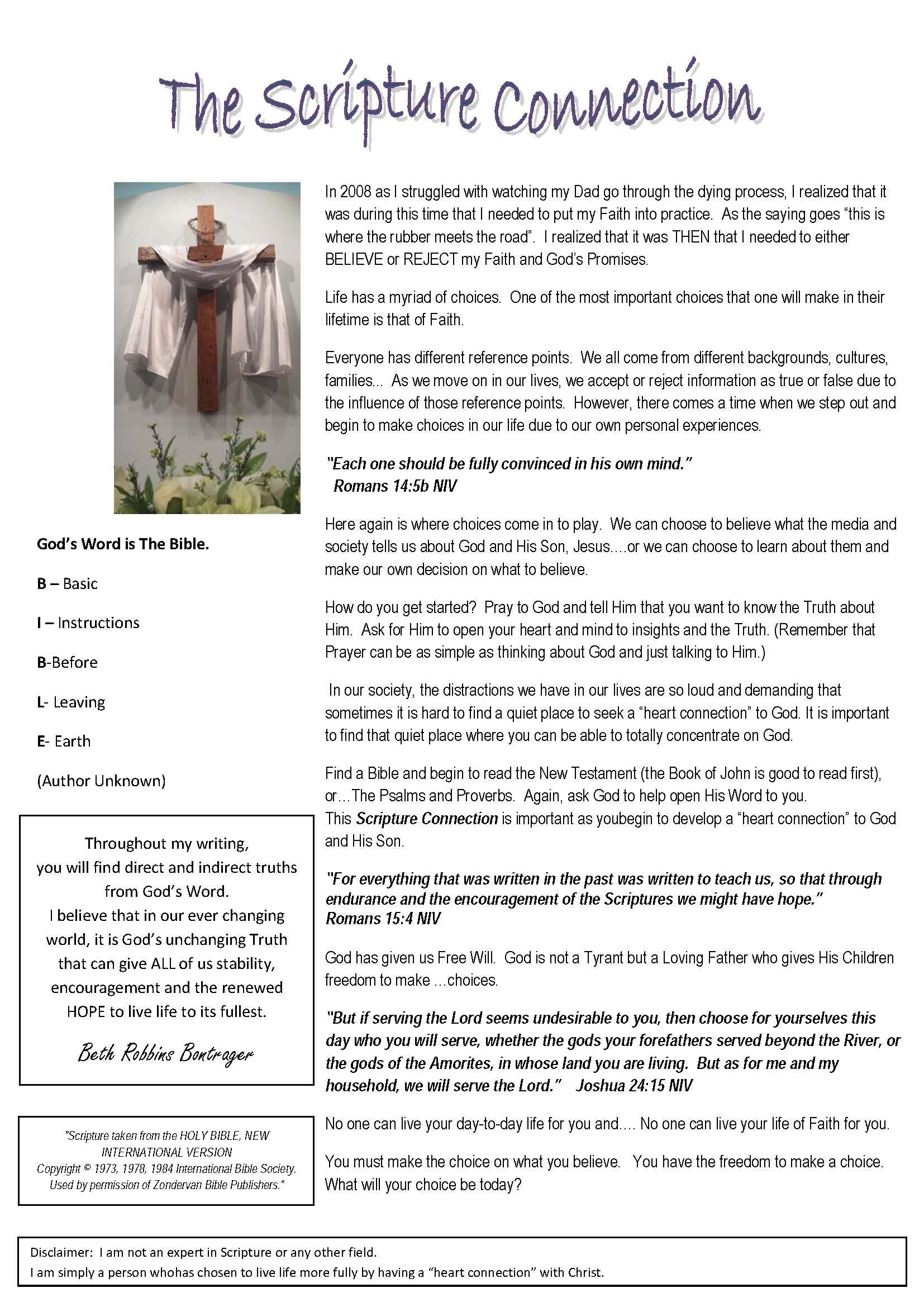 Scripture Connection